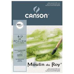 BLOCO CANSON MOULIN DU ROY A3 300g/m2 GRANA FINA POCHETTE 6 - Companhia do Papel LTDA
