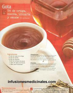 Conoce recetas dei infusiones, tés y otros remedios caseros y naturales para combatir la gota. Tea Blends, Gota, Natural Medicine, Health And Wellness, Nom Nom, Food And Drink, Healing, Weight Loss, Drinks