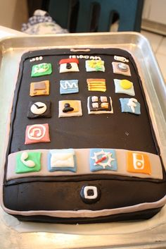 Creation of the iPhone Cake, in pictures…sort of. This is super cool! I bet this would be expensive!                        Love the idea!