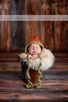 such a cute idea for newborn photos