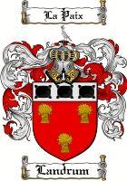 Landrum Coat of Arms / Landrum Family Crest