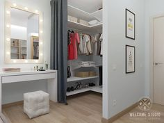 Quartos minimalistas por мастерская дизайна welcome studio minimalista Bedroom Closet Design, Home Room Design, Closet Designs, Home Decor Bedroom, Bedroom Furniture, House Design, Bedroom Wardrobe, Built In Wardrobe, Dressing Design