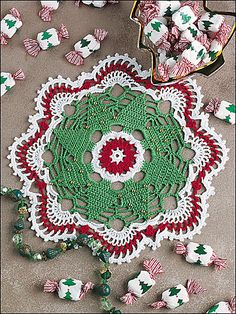 Christmas Tree Doily by Dot Drake