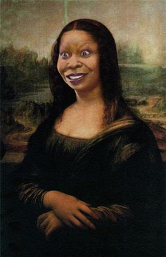 Bia Nicastro: The many faces of Monalisa - Woopy Mona Lisa La Madone, Mona Lisa Parody, Photomontage, Mona Lisa Smile, Whoopi Goldberg, American Gothic, Wow Art, Italian Artist, Many Faces
