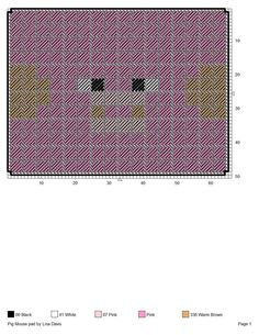 Pig mouse Pad Pc Minecraft, Minecraft Skins, Minecraft Stuff, Tissue Box Covers, Tissue Boxes, Plastic Canvas Patterns, Cross Stitching, Lisa Davis, Kids Rugs