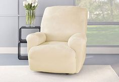 Sure Fit Slipcovers Stretch Plush Recliner Slipcovers - Recliners