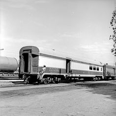 Title: [Missouri Pacific, Passenger and Baggage Car No. 132]  Creator: DeGolyer, Everett L. (Everett Lee), 1923-1977  Date: March 23, 1961  Part of: Everett L. DeGolyer Jr. collection of United States railroad photographs  Place: Laredo, Texas  Physical Description: 1 negative: film, black and white; 6.4 x 6.2 cm  Railway Line: Missouri Pacific Railroad Company   File: ag1982_0232_mp_car_0000132_neg23823_sm_opt.jpg  Rights: Please cite DeGolyer Library, Southern Methodist University when…