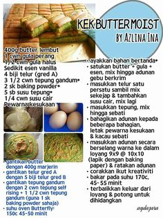 Pastry Recipes, Tart Recipes, Asian Recipes, Cooking Recipes, Ethnic Recipes, Resepi Butter Cake, Cake Receipe, Resep Cake, Asian Cake