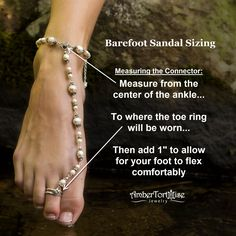 Ordering custom barefoot sandals? Here's how to measure the connector to ensure your custom barefoot sandals are a perfect fit.