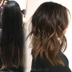 """114 Likes, 9 Comments - Joanne Chung (@hairxjojo) on Instagram: """"Natural brunette #balayage ☕️☕️☕️ // #HAIRxJOJO #HAIRBYJOANNECHUNG"""""""