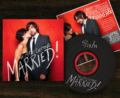 Personal Wedding Invitation Design. Vinyl texture varnish and hand typography. http://www.karynjimenezelliott.com/