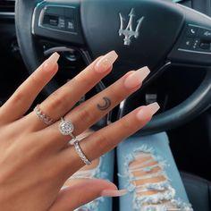 milky nails design - milky nails _ milky nails acrylic _ milky nails pale pink _ milky nails with flowers _ milky nails white _ milky nails coffin _ milky nails design _ milky nails short Acrylic Nails Coffin Short, Simple Acrylic Nails, Best Acrylic Nails, Acrylic Nail Designs, Simple Nails, Bright Summer Acrylic Nails, Pink Clear Nails, Chic Nail Designs, Natural Nail Designs