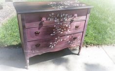 Painted Vintage 4-Drawer Dresser by ReDonebyDee on Etsy