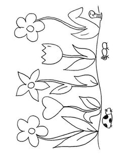 Flower Coloring Sheets, Printable Flower Coloring Pages, Unicorn Coloring Pages, Coloring Sheets For Kids, Animal Coloring Pages, Coloring Pages For Kids, Adult Coloring, Coloring Books, Coloring Pages Of Flowers