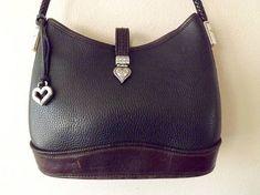 Vintage Brighton Shoulder Bag Black Brown Leather