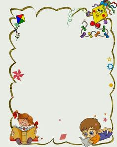 school frames and borders Borders For Paper, Borders And Frames, School Border, Boarder Designs, Kindergarten Portfolio, Kids Background, School Frame, Background Powerpoint, School Clipart