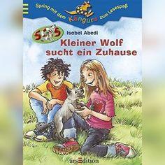 Zwei Kinder kümmern sich um einen kleinen Wolf Wolf, Comic Books, Baseball Cards, Comics, Reading, Cover, Pictures, Second Child, Addiction