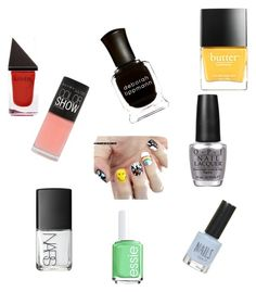 """""""Nailing it."""" by hollyhaugh on Polyvore featuring beauty, Maybelline, NARS Cosmetics, OPI, Deborah Lippmann, GUiSHEM, Butter London, Topshop and Essie"""