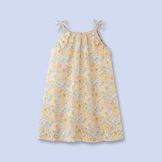 Liberty print dress - Girl - WHITE/MULTICOL. - Jacadi Paris. has ruffles encircling the armholes