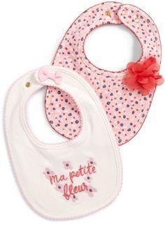 65a30c4fe1a Kate Spade Ma Petit Fleur Two-Pack Bib Set