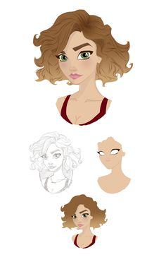 quick daily coloring of a sketch done by pernille orum. she is amazingly…