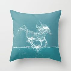 Buy The Water Horse Throw Pillow by Paula Belle Flores. Worldwide shipping available at Society6.com. Just one of millions of high quality products available.