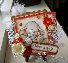 Hello Everybody!! Today I'm showing you a card I did with a stamp by Wild Rose Studio, Bella with Teddy....