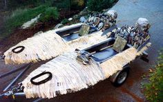 Water Fowl Boat Duck Hunting Blinds, Duck Hunting Boat, Duck Boat, Hunting Gear, Fishing 101, Kayak Fishing, Boat Blinds, Duck Farming, Waterfowl Hunting