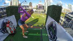 San Diego Padres transform ballpark into a 9-hole golf course