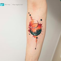 watercolor landscape tattoo © tattoo artist Koray Karagözler ❤☪️❤☪️❤☪️❤ watercolor tattoo Explosion of Colors: Beautiful Watercolor Tattoos by Koray Karagözler Unique Tattoos, Small Tattoos, Tattoos For Guys, Tattoos For Women, Beautiful Tattoos, Black Tattoos, Forearm Tattoos, Body Art Tattoos, Sleeve Tattoos