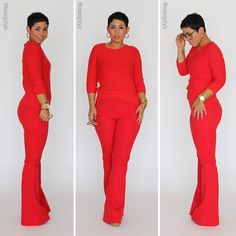 Monochromatic Look + Flared Mimi G Pants - Mimi G Style