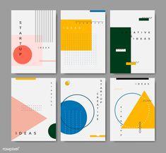of minimal Memphis design start-up poster vect.Set of minimal Memphis design start-up poster vect. Graphisches Design, Buch Design, Japan Design, 2020 Design, Vector Design, Design Model, Cover Design, Creative Design, Design Ideas