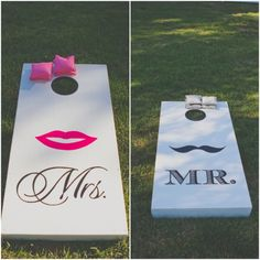 Corn Hole Game At Wedding. @Lindsay Dillon Evans Do you think your dad, Robbie, you, Billy and I can tackle making two of these? I think it'd be really fun to have outside :)