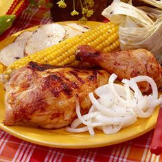 Smoky Barbecue Recipes | Chili-Barbecued Chicken | SouthernLiving.com
