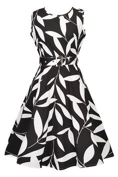 It doesn't have to be fall to fall in love with our atomic Black Leaf Print Swing Dress with Belt. Get it here: https://atomicjaneclothing.com/products/atomic-black-leaf-print-swing-dress-with-belt