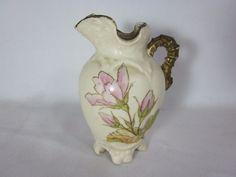 Porcelain Creamer Floral Pitcher jug Pink Flowers Vintage