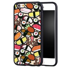 Cute Sushi Food Pattern Printed Soft Rubber Skin Mobile Phone Cases For iPhone 6 6S Plus SE 5 5S 5C 4 4S Back Shell Cover
