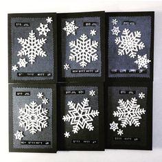 Julkort med snöflingor