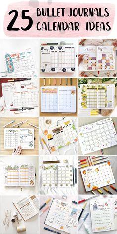 Bullet Journal Monthly Calendar Template - Bullet Journal Planning #bulletjournaltemplate #bulletjournalspinterest #templatesforbulletjournals