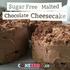 Sugar Free Malt Chocolate No-Bake Cheesecake: My very favourite dessert - now sugar free!