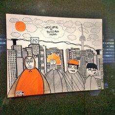 SOKOR '14: Artwork at Seoul Hongdae Pencil Guesthouse & Hostel #popart