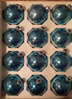 Vintage Coby Glass Ornaments American Made by VintageRoseandLace