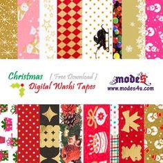 Digital Christmas Washi Tape for #free #download # christmas