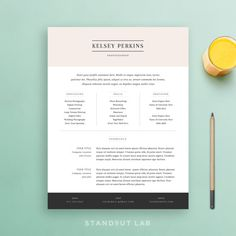 Resume Template and Cover Letter Template, Professional Design CV, Download Custom Word Doc, Personalize Simple, Modern and Creative Resume