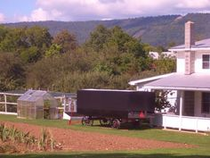 big valley amish church wagon. carries benches for church at the members' home