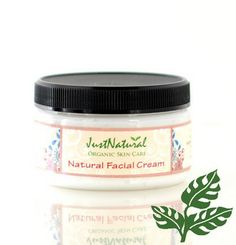 Natural Facial Cream made with organic butters and plant oils