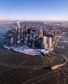 A frozen New York City