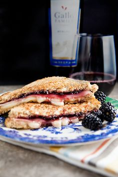 Brie, Ham, and Blackberry Grilled Cheese. Jam in the sam for #SundaySupper Or how about breakfast?