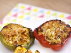 poivron, tomate, aubergine, feta, quinoa, bouillon
