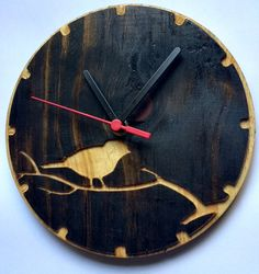 Relógio Pássaro Wood Clocks, Oclock, Losing Weight, Workshop, Watch, How To Make, Crafts, Diy, House